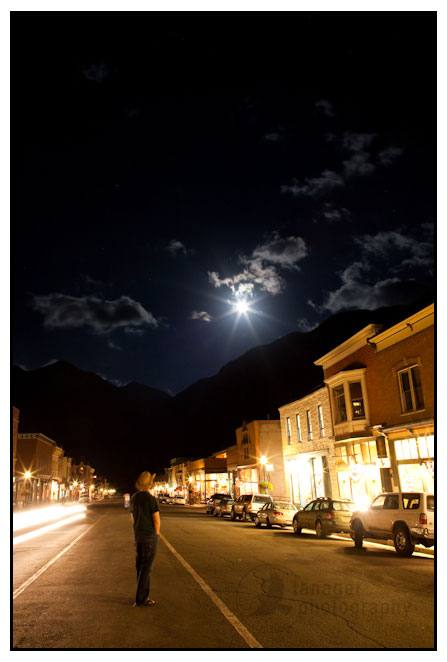 Full moon over Telluride, Colorado