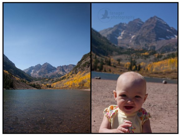 Enjoying the Maroon Bells in autumn, Aspen, Colorado