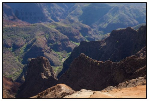 Waimea Canyon Lookout, Kauai, Hawaii (tilt-shift)