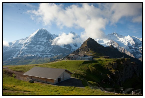 The Eiger, Mönch and Jungfrau as seen from Männlichen, Berner Oberland, Switzerland.