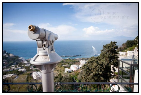 A telescope on Capri, Italy