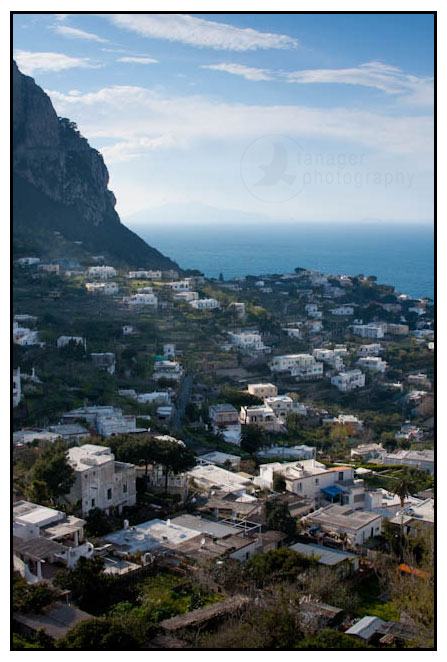 A view of Capri, Italy