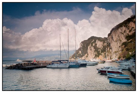 A storm over Sorrento and Capri, Italy