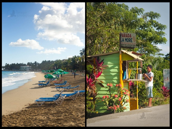 Cabarete beach and highway concession stand, Dominican Republic