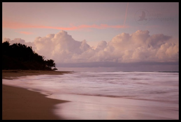 Cabarete beach sunset, Dominican Republic