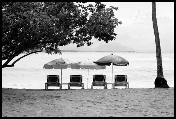 Beach chairs at Sosua, Dominican Republic