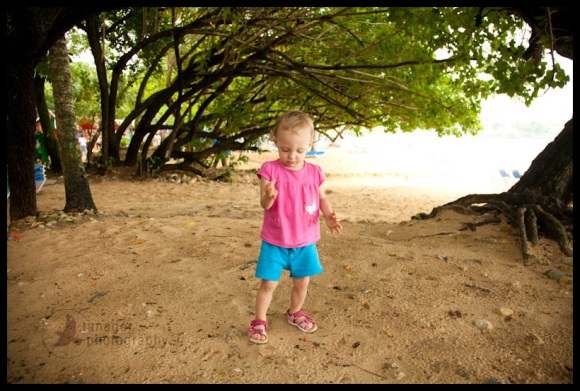 Child on the beach, Sosua, Dominican Republic