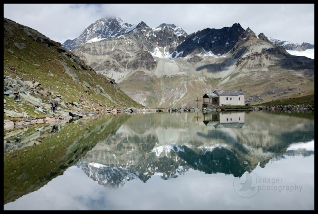 Reflection on the Schwartzsee, near Zermatt, Switzerland