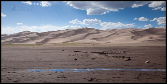Medano Creek runs out, Great Sand Dunes National Park, Colorado
