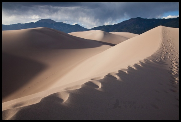 Footprints in the sand, Great Sand Dunes National Park, Colorado