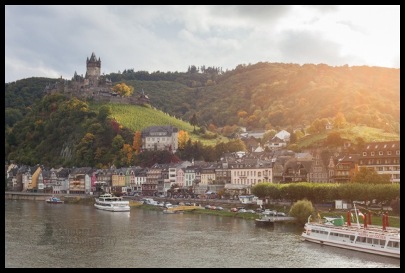 Cochem, Germany at dusk on Mosel River
